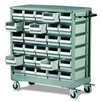 Topdrawer - Trolley c/w 30 Drawers: click to enlarge