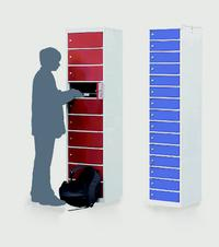 Laptop Storage Lockers: click to enlarge