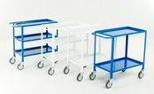 Economy Steel Tray Trolleys - 150Kg Capacity