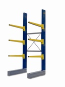 Single Sided BCR100 series Cantilever Racking - Height 3952mm