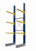 Single Sided BCR100 series Cantilever Racking - Height 4940mm