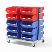 Topstore - Double Sided Louvred Panel Trolley TC Bin Kits