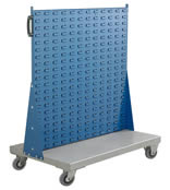 Topstore - Louvred Panel Trolley Stands