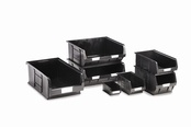 Topstore - Black Recycled TC Semi-Open Fronted Containers