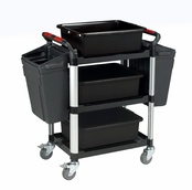 Utility Tray Trolleys - 3 Shelf Trolleys with Accessories