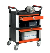 3 Shelf Trolley with Drawer and Cabinet