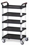 Utility Tray Trolleys - 5 Shelf